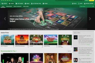 Unibet Casino screenshot